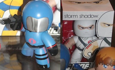 G.I. Joe Mighty Muggs - Cobra Commander Mighty Mugg and Storm Shadow Mighty Mugg in Package
