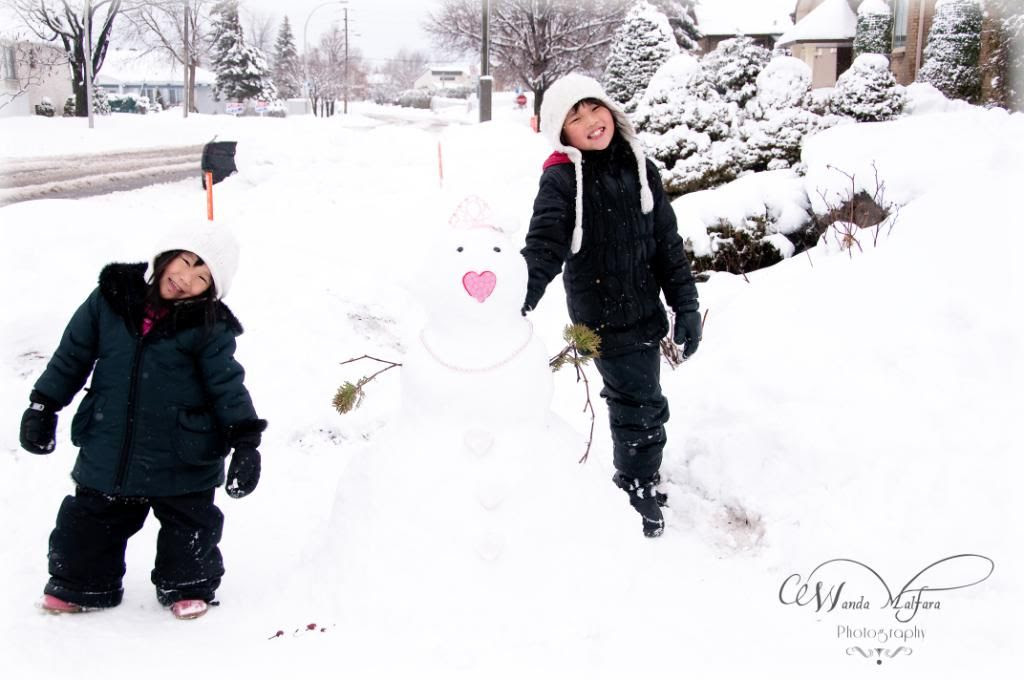 Thurs March 1,2012, We don't do snowmen....only snowgirls will do.