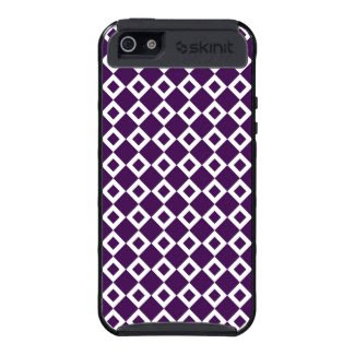 Purple and White Diamond Pattern Cases For iPhone 5