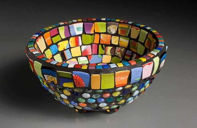MosaicsGarden by Nancy Keating - Crazy Bowl
