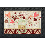 Lovely Hearts Valentine's Day Doormat