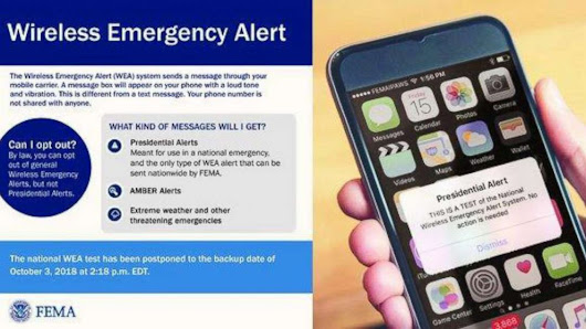 Phones around the country will buzz with the 1st national emergency alert test Wednesday - ABC News