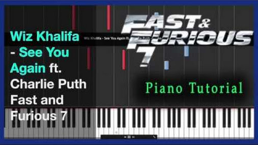 How To Play See You Again On Piano By Wiz Khalifa