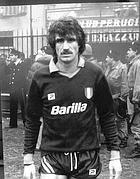 Maldera con la maglia della Roma campione d'Italia