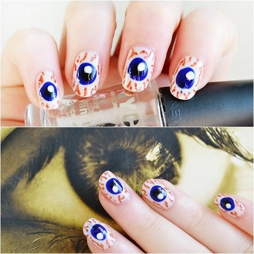 eyeball nail art