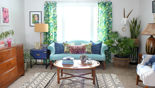 Living Room Refresh - At Home on the Bay