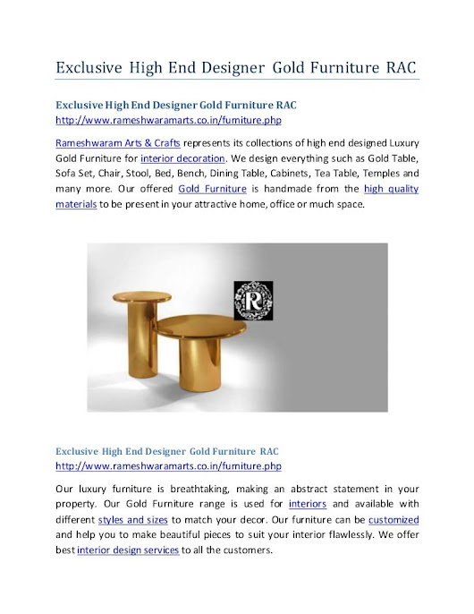 Exclusive high end designer gold furniture rac