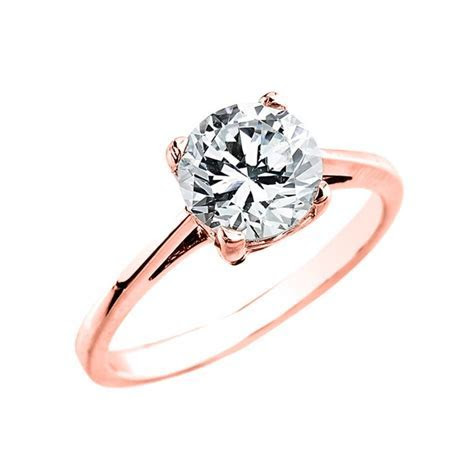 Rose Gold 1.50 ct Cubic Zirconia Dainty Solitaire