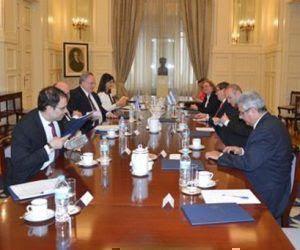 Cancilleres de Cuba y Grecia sostienen conversaciones oficiales. Foto: @CubaMINREX