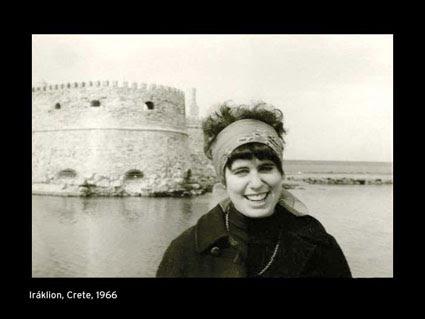 Andrea Dworkin in Crete, 1966