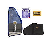 Oscar Schmidt 21 Chord Autoharp, Quilted Maple Top, Trans Blue, OS21CQTBL w/Soft Case, OS21CQTBL AC448PACK