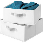 Honey Can Do 2 Pack Drawers for Hanging Organizer - White