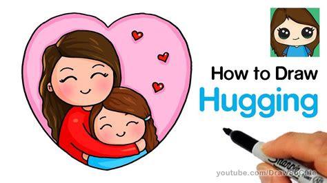 draw hugging mom easy kids fun stuff