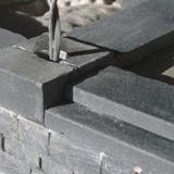 Costruzione 48 - Scalini del portico e base dei pilastri