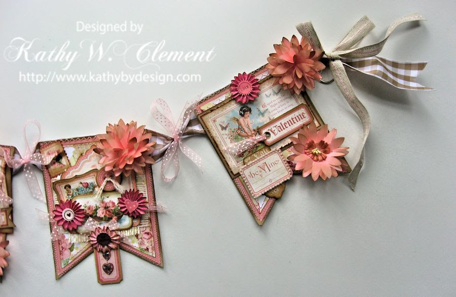 Kathy by Design Valentine Banner Tutorial for Really Reasonable Ribbon