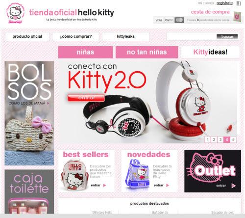 Creamos la tienda oficial de Hello Kitty La Teva Web hemos creado latienda oficial de Hello Kittypara España. En este proyecto se ha cuidado especialmente el diseño web de la tienda de la mascota de Sanrio. Tienda Hello Kitty