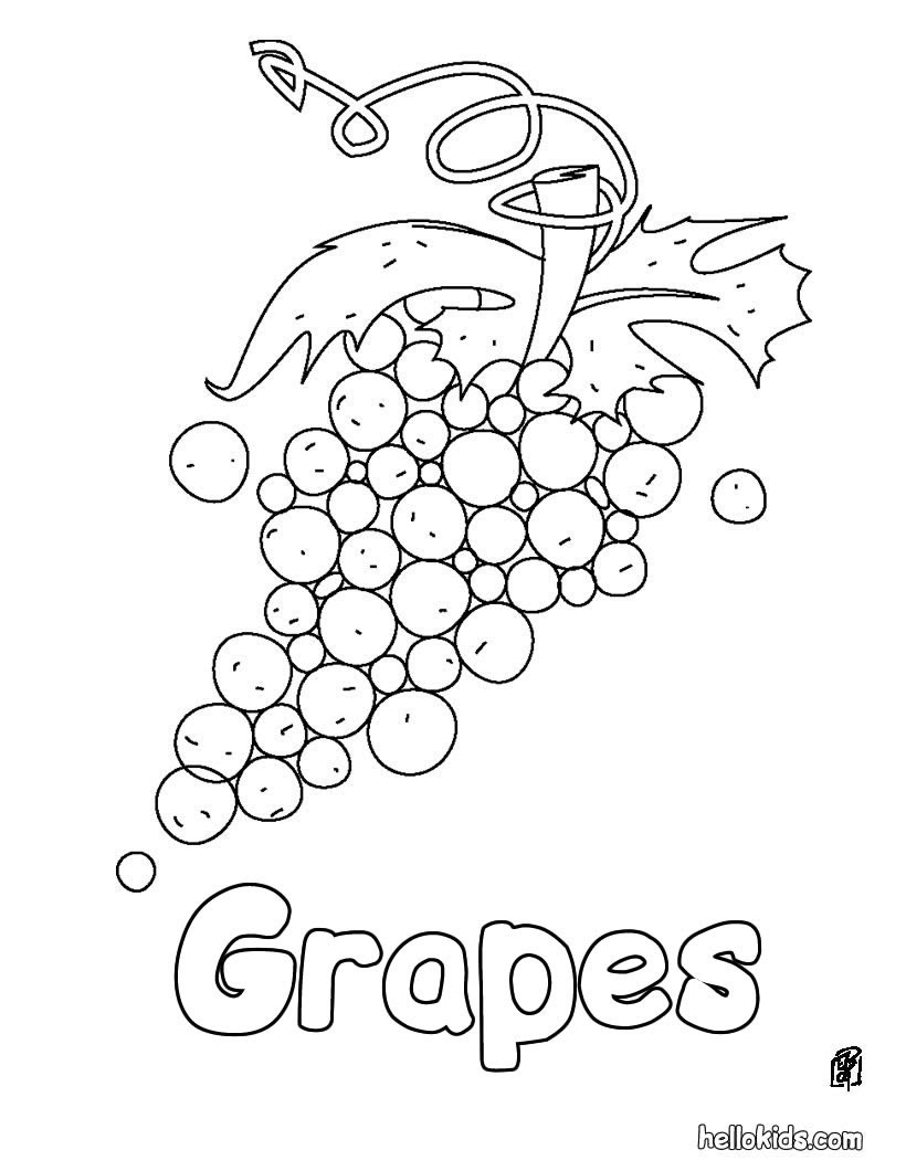 990 Top Coloring Pages For Grapes Pictures