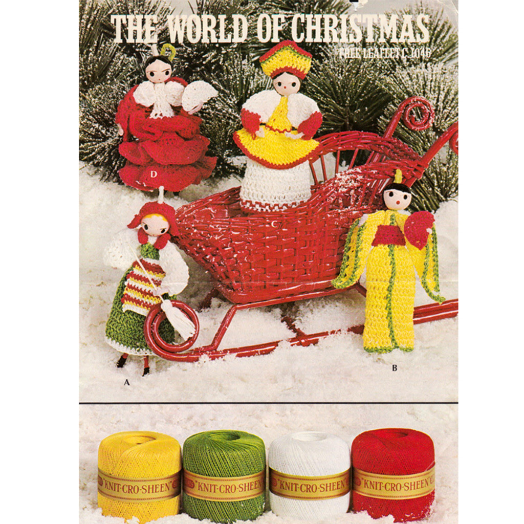 World of Christmas Crochet Leaflet 1046, Coats Clark's