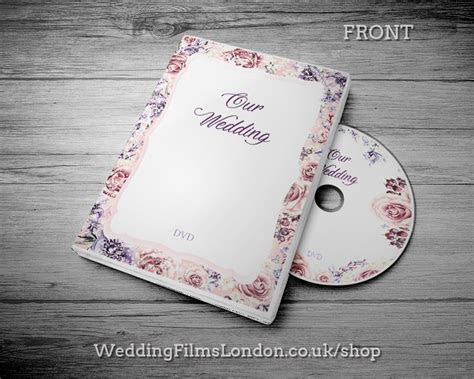 Custom Made Wedding DVD/CD Case, Cover with printed Disc