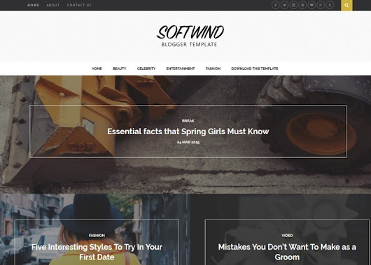 SoftWind Blogger Template • Latest Templates 2015