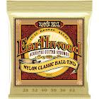 Ernie Ball 2069 Earthwood 80/20 Bronze Folk Nylon Ball End Acoustic Guitar Strings