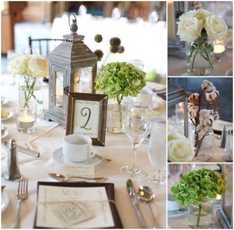 Rustic Elegant Wedding Decor I like the green flowers and
