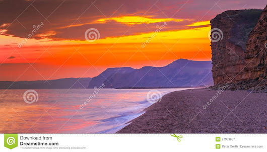 Dorset Beach UK  Bridport  At Freshwater Beach Royalty Free Stock Photography - Image: 27353657