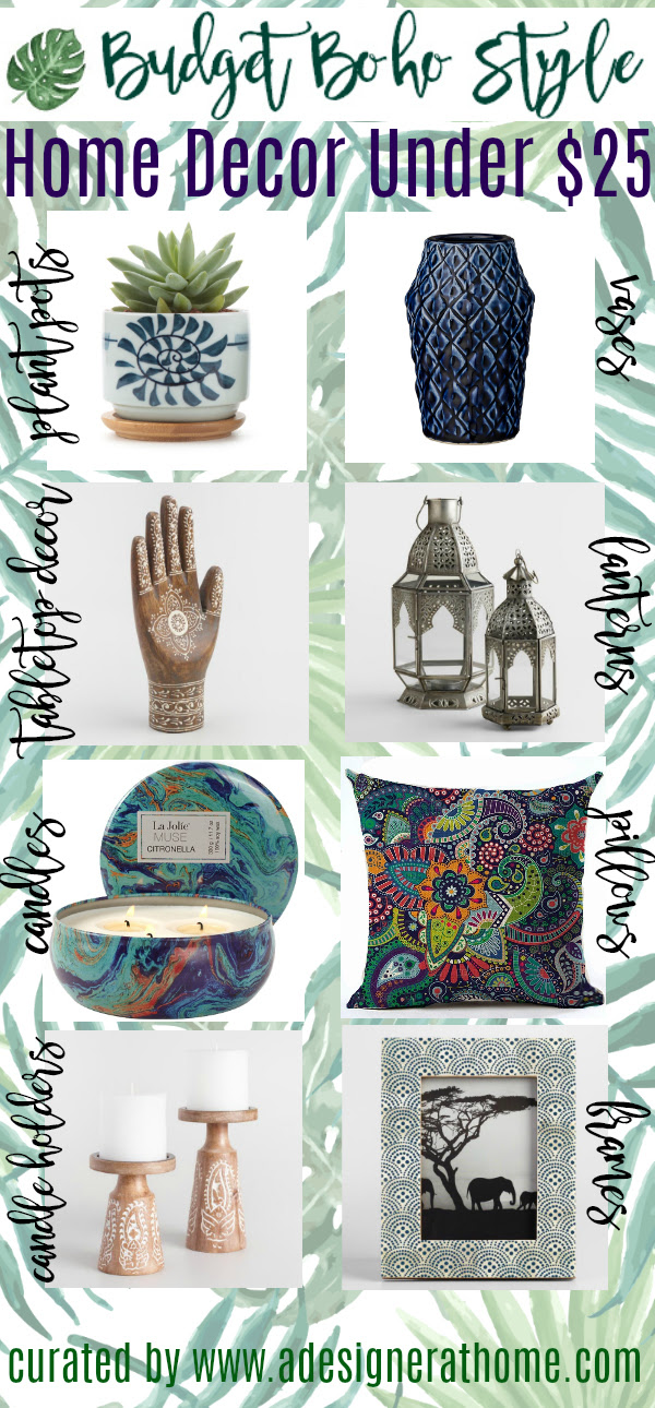Budget Boho Style Home Decor Under $25