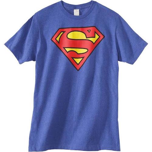 Men's Superman Shield T-Shirt - Blue M