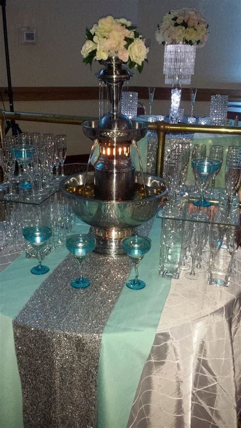 tiffany blue champagne fountain jordan  jordan