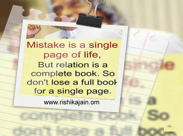 Dr Abdul Kalam Quote Mistake Is A Single Page In A Part Of Life