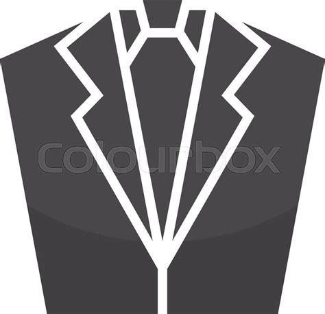 Vector tuxedo logo design template. Jacket logo. Suit logo