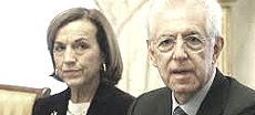 Elsa Fornero e Mario Monti
