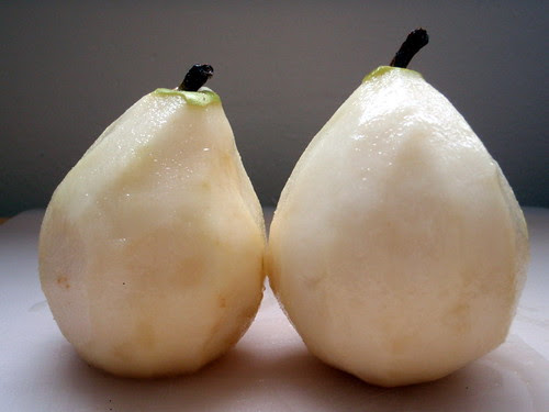 A pair of naked pears