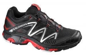 Salomon Men's XT Wings 2 Trail Running Shoe,Black/Black/Bright Red,9.5 M US