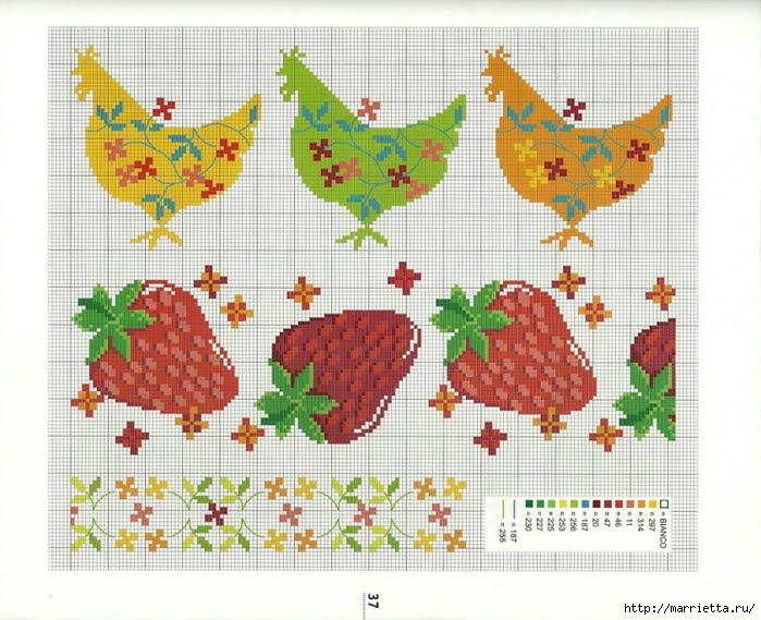 cross stitch diagrams for towels (5) (700x569, 314Kb)