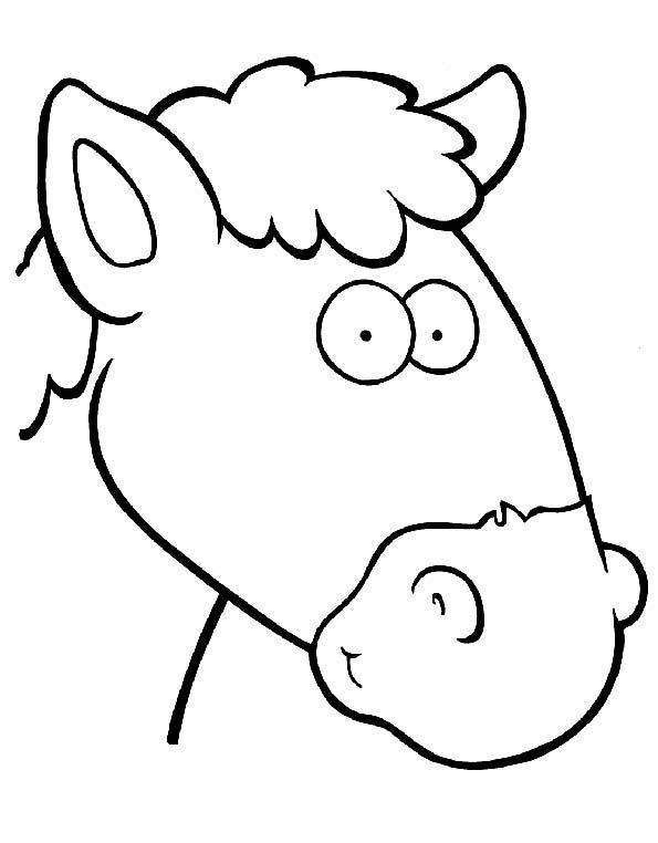 Cabeza De Caballo Para Colorear Teby Y Tib Portal Infantil