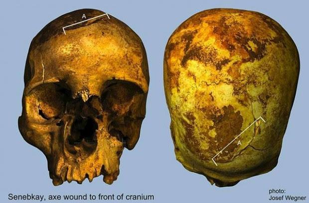Cráneo de Senebkay.