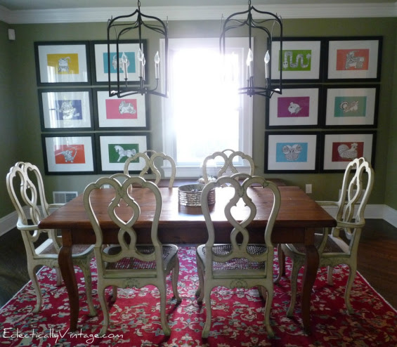 Eclectic Dining Room Makeover From Eclectically Vintage Blog