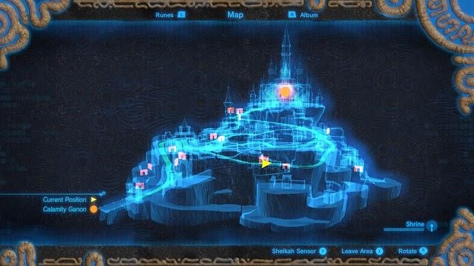 Breath Of The Wild Hyrule Castle Map World Map Atlas