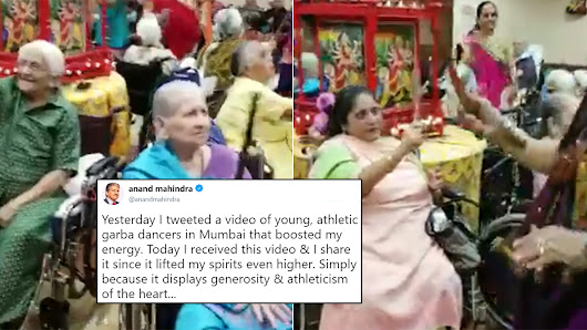 Watch: Senior Citizens On Wheelchairs Playing Dandiya During Navratri