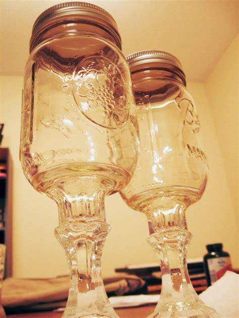 12 Intriguing Ways to Make a Mason Jar Wine Glass   Guide