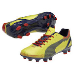 Puma evoSpeed 1 Graphic FG Soccer Shoes (Blaze Yellow/Scarlet) 8.5 By SoccerEvolution