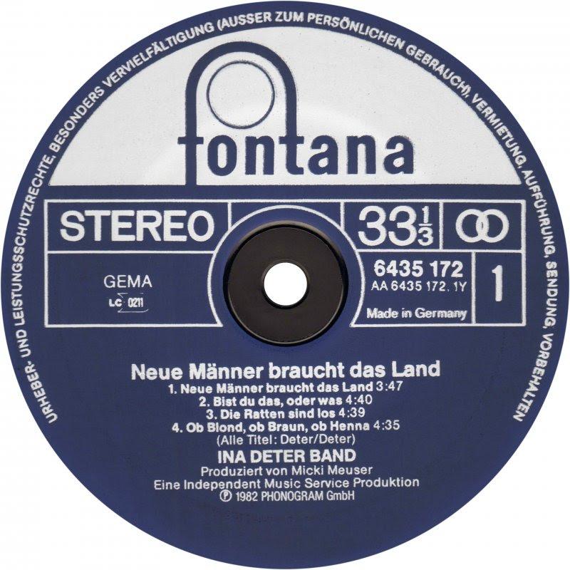 Vinyl Album Ina Deter Band Neue Männer Braucht Das Land
