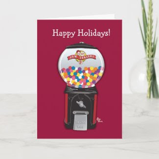 Gumball Machine Holiday Card