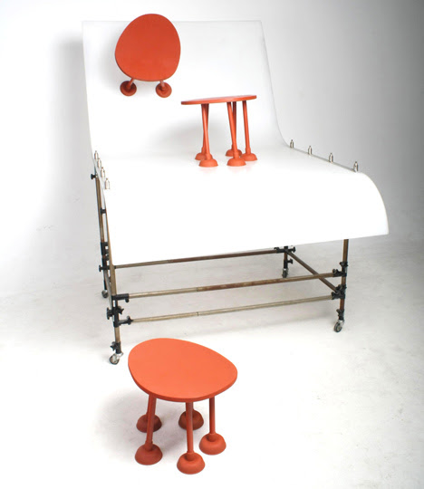 Rubber Table, Thomas Schnur, decoracion, diseño, interiores, muebles