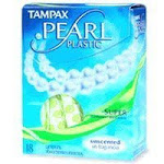 Tampax Pearl Tampons with Plastic Applicator Super Absorbency Unscented 18 ct