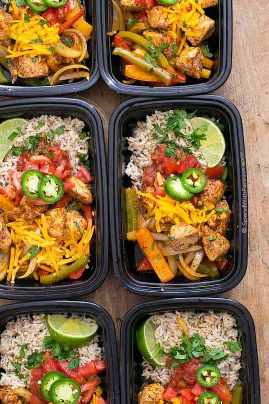 Fajita Meal Prep Bowls - Spend With Pennies