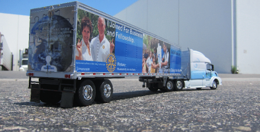 Toy Truck and Trailer Wrap