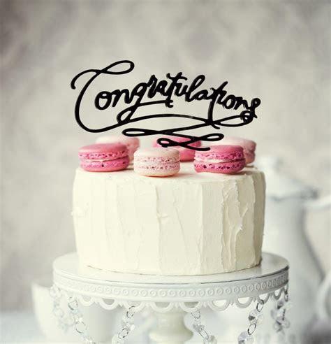 CONGRATULATIONS Cake Topper (Black)   Bake Group